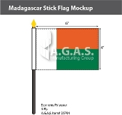Madagascar Stick Flags 4x6 inch