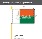 Madagascar Stick Flags 12x18 inch