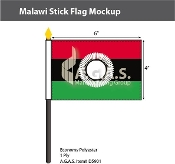 Malawi Stick Flags 4x6 inch