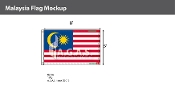 Malaysia Flags 5x8 foot