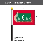 Maldives Stick Flags 4x6 inch