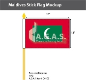Maldives Stick Flags 12x18 inch
