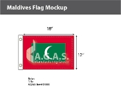 Maldives Flags 12x18 inch