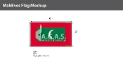 Maldives Flags 3x5 foot