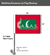 Maldives Car Flags 12x16 inch Economy