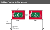 Maldives Car Flags 10.5x15 inch Premium