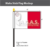 Malta Stick Flags 4x6 inch