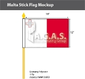 Malta Stick Flags 12x18 inch