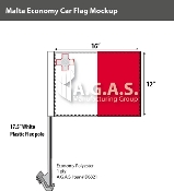 Malta Car Flags 12x16 inch Economy