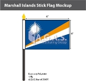 Marshall Islands Stick Flags 4x6 inch