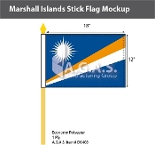Marshall Islands Stick Flags 12x18 inch