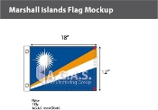 Marshall Islands Flags 12x18 inch