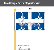 Martinique Stick Flags 12x18 inch