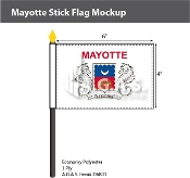 Mayotte Stick Flags 4x6 inch