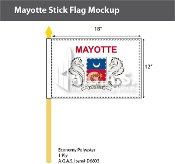 Mayotte Stick Flags 12x18 inch