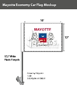 Mayotte Car Flags 12x16 inch Economy