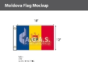 Moldova Flags 12x18 inch