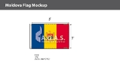 Moldova Flags 2x3 foot