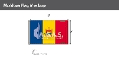 Moldova Flags 5x8 foot