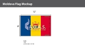 Moldova Flags 8x12 foot