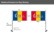 Moldova Car Flags 10.5x15 inch Premium