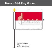 Monaco Stick Flags 4x6 inch
