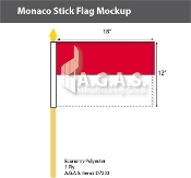 Monaco Stick Flags 12x18 inch