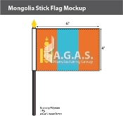 Mongolia Stick Flags 4x6 inch