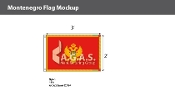 Montenegro Flags 2x3 foot