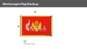 Montenegro Flags 8x12 foot