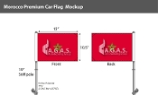 Morocco Car Flags 10.5x15 inch Premium