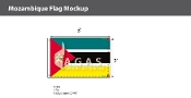 Mozambique Flags 2x3 foot