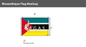 Mozambique Flags 4x6 foot