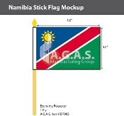 Namibia Stick Flags 12x18 inch