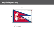 Nepal Flags 8x12 foot