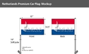 Netherlands Car Flags 10.5x15 inch Premium