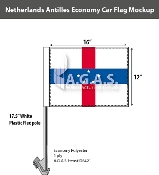 Netherlands Antilles Car Flags 12x16 inch Economy