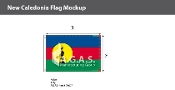 New Caledonia Flags 2x3 foot