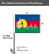 New Caledonia Car Flags 12x16 inch Economy