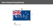 New Zealand Flags 6x10 foot