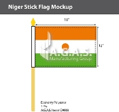 Niger Stick Flags 12x18 inch