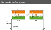 Niger Car Flags 10.5x15 inch Premium