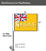 Niue Car Flags 12x16 inch Economy
