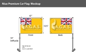 Niue Car Flags 10.5x15 inch Premium