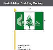 Norfolk Island Stick Flags 12x18 inch