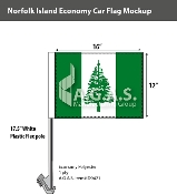 Norfolk Island Car Flags 12x16 inch Economy