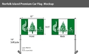 Norfolk Island Car Flags 10.5x15 inch Premium