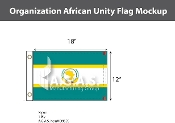 Organization Of African Unity Flags 12x18 inch