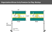 Organization Of African Unity Car Flags 10.5x15 inch Premium