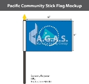 Pacific Community Stick Flags 4x6 inch